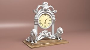 lioned clock 3D model