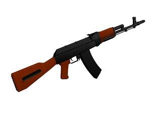 assault rifle ak 3D