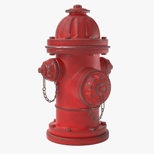 3D old hydrant