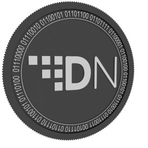 3D digitalnote black coin