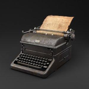 typewriter vintage model
