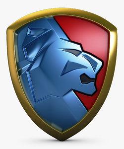 lion shield insignia v model