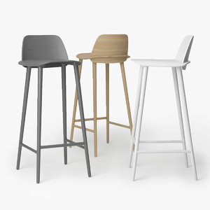 muuto nerd bar chair 3D