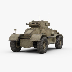 ww2 aec mk1 armored car 3D model