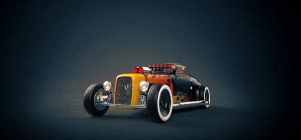 3D model hot rod lucky