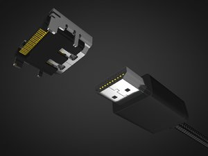 3D hdmi male female connector