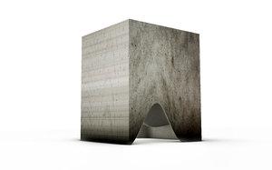 3D hollowed parametric pavilion model