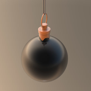 3D model christmas ornament ball black