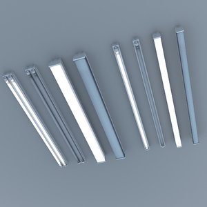 3D model fluorescent ceiling lights