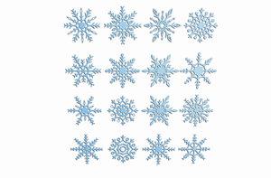 realistic snowflakes model