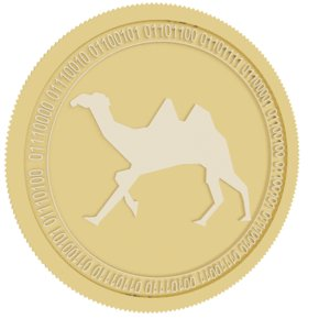 3D token gold coin