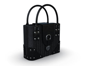 bag woman leather 3D