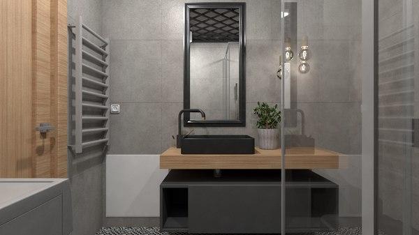 interior design bathroom 3D