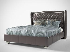 hollywood loft upholstered bed 3D model