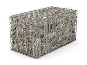 3D basket gabion model