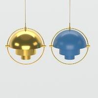 golden pendant brass multi 3D model