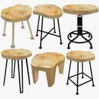 stools loft 3D model