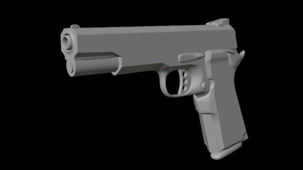 gun handgun model