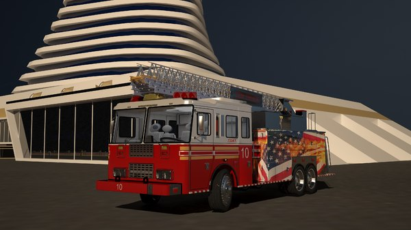 3D model truck pumper engine