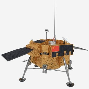 chang e 4 spacecraft 3D