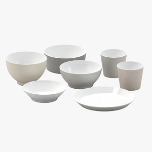 3D alessi tonale chipperfield bowls model