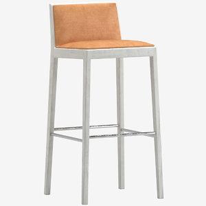 andreu world carlotta bar stool 3D model