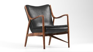 finn juhl 45 chair 3D model