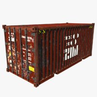 3D shipping container zim