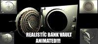 realistic bank vault safe 3D model