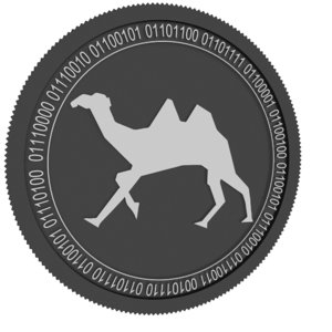 3D model dxchain token black coin