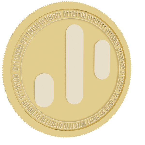 dynamic gold coin trading 3D model