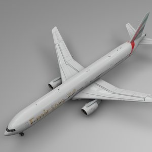 emirates boeing 777-300er l537 3D model