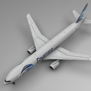 3D egyptair boeing 777-300er l536 model
