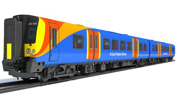 3D british south west rail model