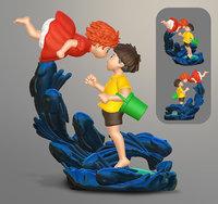 3D model ponyo movie hayao