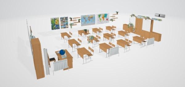 classrooms 3D model