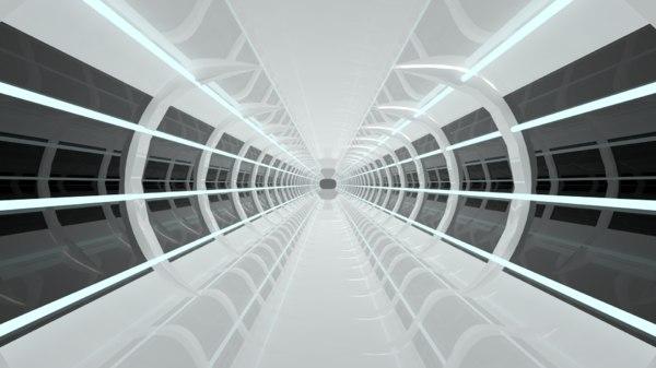 3D scifi tunnel
