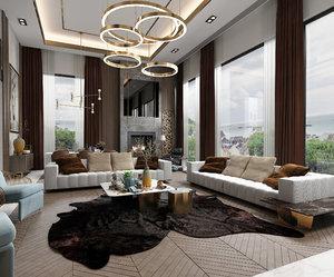 3D livingroominteriorloftloungediningrealisticmodernscenehomephotorealvrayluxuryapartment sofa