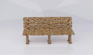 granola bench 3D model
