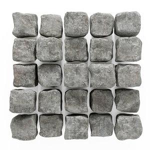 panel stone granite 3D model