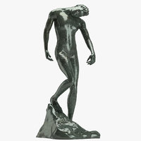 3D auguste rodin shade