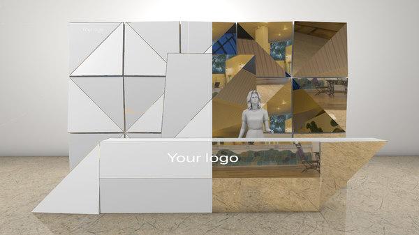 3D model welcome desk