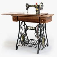 1907 s singer sewing 3D model