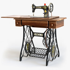 1907 s singer sewing 3D model