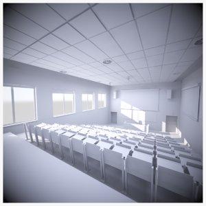 lecture hall scene 3D model