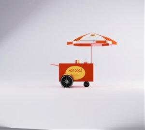 hot dog cart model