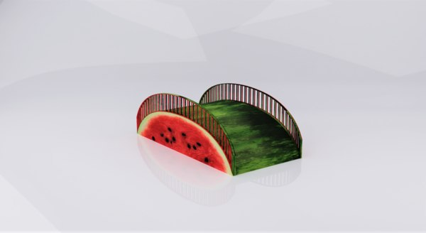 3D watermelon bridge