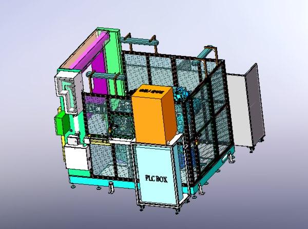 axis manipulator processing center 3D model