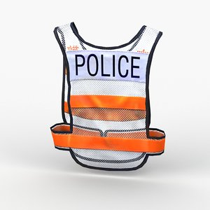 3D police reflective vest model