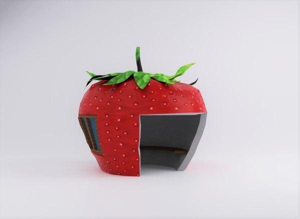 strawberry house 3D model
